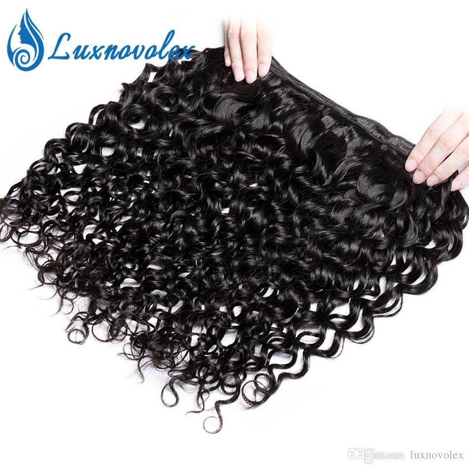 Human Hair Weave Bundles Malaysian Water Wave Hair Bundles Natural Color Hair Extensions Can Buy 3 Or