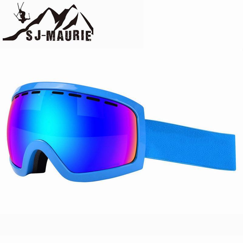 01b7cca0814 Compre SJ MAURIE Lente De Doble Capa Gafas De Esquí Anti Niebla Gafas  Esféricas Grandes Hombres Mujeres Máscara De Snowboard Multicolor Gafas De  Esquí De La ...