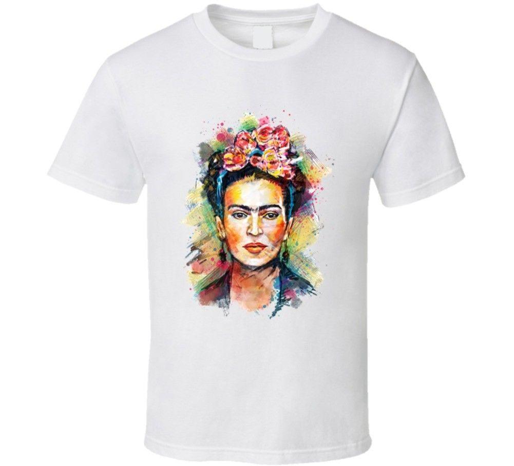 Compre Frida Kahlo Artista Mexicana Camiseta Para Hombre 2018 Marca De Moda  Camiseta Con Cuello En O 100% Algodón Camiseta Tops Camiseta Personalizada  A ... cdaf6261607b0