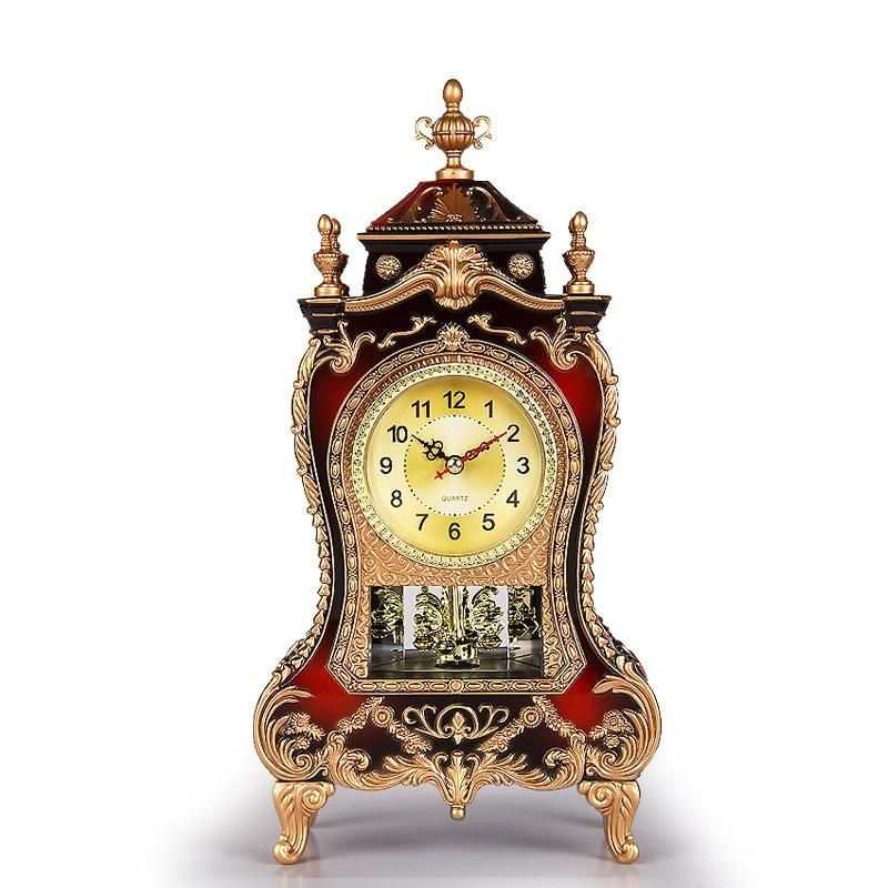 Table Clock Vintage Classical Royalty Sitting Room Tv Cabinet Desk Imperial Furnishing Creative Sit Pendulum Classic