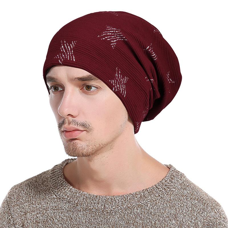 the latest 9ac88 f1365 2019 New Arrival Beanie Winter Hat Men Caps Knit Knitting Hats Fashion  Keeping Warm Five Pointed Pattern Thickening Hedging Hats From  Newhappyness, ...
