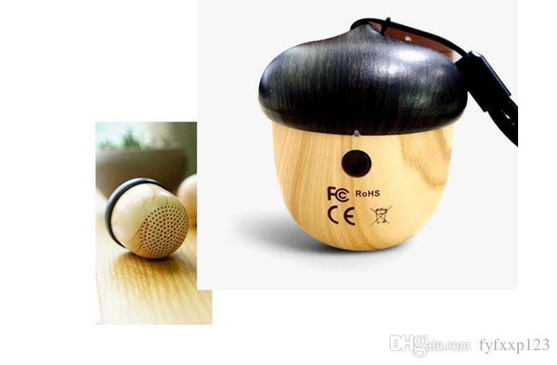 2018 altoparlante a dado in legno bluetooth subwoofer mini design unico con altoparlante incorporato in legno microfono iPhone