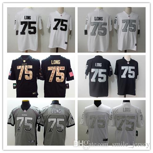online store 02d48 90c38 New Mens 75 Howie Long Oakland Jersey Raiders Football Jerseys 100%  Stitched Embroidery Raiders Howie Long Color Rush Football Shirt