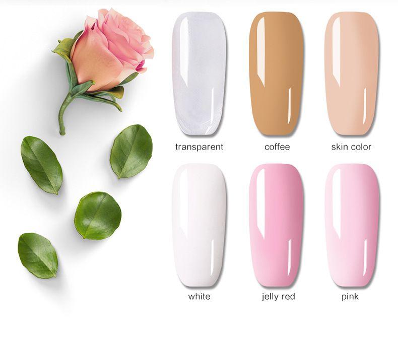 30ml Poly Gel Nail Art French Manicure Trasparente Camouflage Polygel i Quick Building Nail Estendere Gel UV Crystal HO92