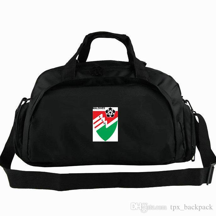 7d596c1af438 Maldives Duffel Bag FAM National Tote MDV Island Football Team Backpack  Soccer 2 Use Luggage Sport Shoulder Duffle Badge Sling Pack Gym Bags For  Men Big ...