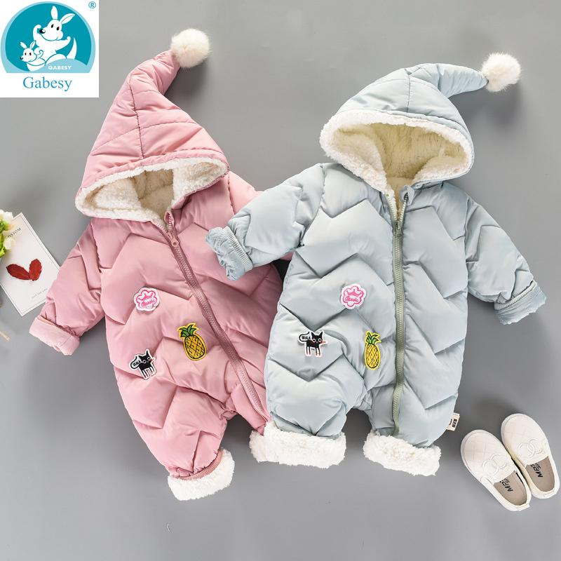 aaf70acb0a09 2019 Winter Rompers Baby Girl Newborn Clothes Children Boys Girls ...