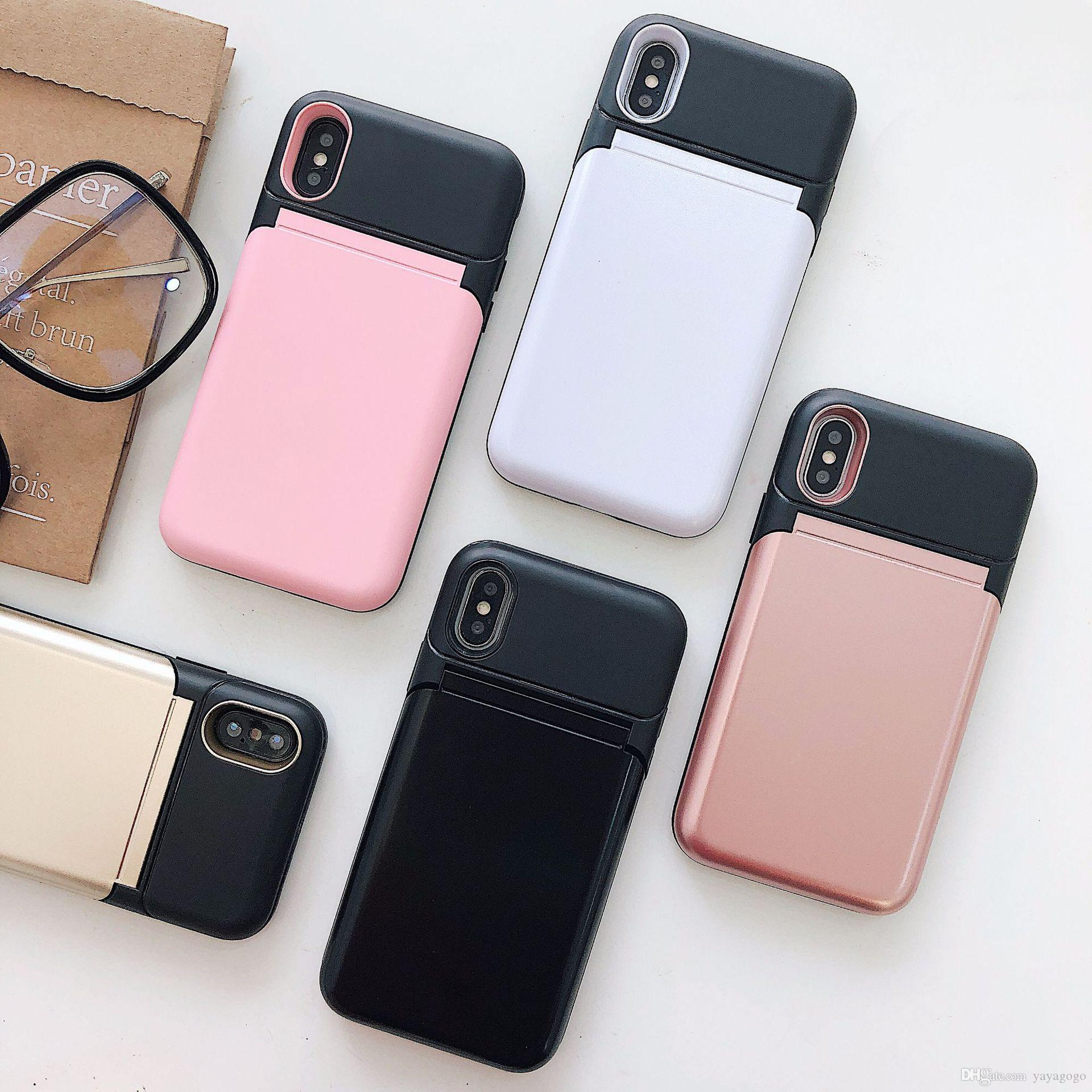 best website 87d4a 7ed53 retail 2018 new arrival cool phone case with Cover up Mirror can put card  in Iphone case hot sell cover for samsung