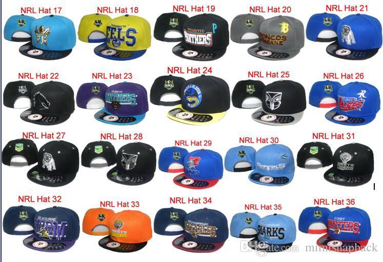 Vente chaude NRL South Sydney Rabbitohs Chapeau de Football Caps Snapbacks Chapeaux de Bande Dessinée Logo Réglable Football Caps Mode Hip Hop