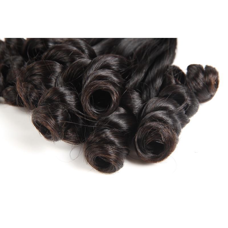 Brezilyalı Bakire Saç Funmi Kıvırcık Tarzı Funmi Saç 3 Demetleri 300g Yeni Moda Saç Uzantıları Doğal Renk 8-20 Inç