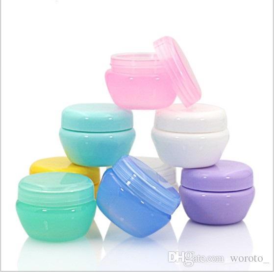 Plastique Champignons bouteille Cosmétique Vide Pot Pot Fard À Paupières Baume À Lèvres Crème Visage Conteneur D'échantillon Contenant 5g 10g 20g 30g 7 couleurs