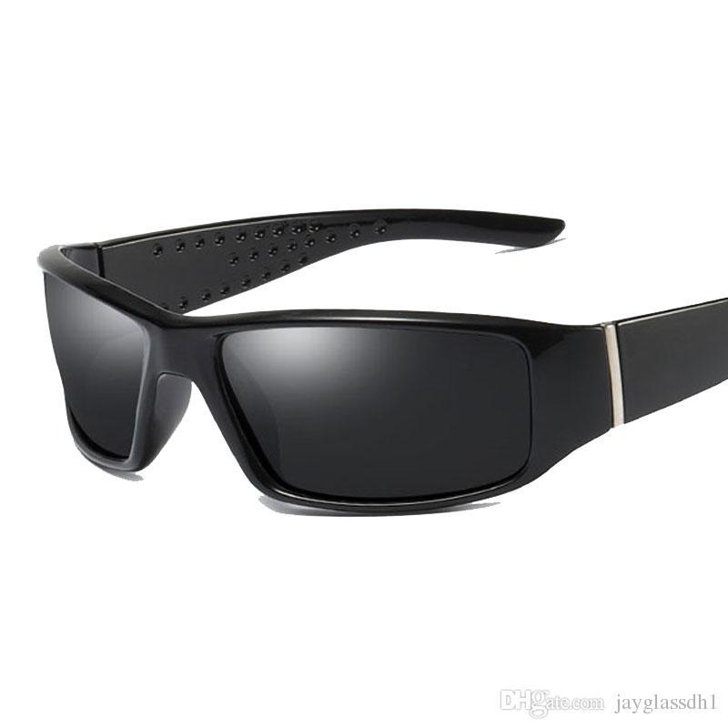 a896de79fa69c Compre Marca Homens Polarizados Óculos De Sol Designer Óculos De Proteção  Para Homens Condução De Pesca Óculos De Sol Óculos De Armação Preta Óculos  ...