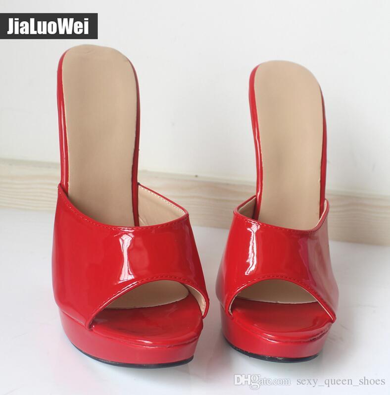 Européenne Nouvel Arrive Femmes Sandales Ultra 18 CM Pantoufles À Talons Hauts Femme Plateforme Compensées Sexy Fétiche D'été Chaussures Escarpins À Bout Ouvert Tongs