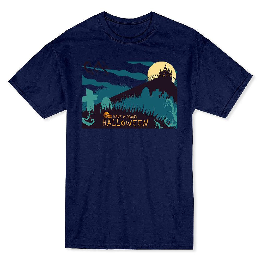 have a scary halloween haunted house and pumpkin mens navy t shirt buy shirts t shirt designers from crazylikeafawkes 1156 dhgatecom