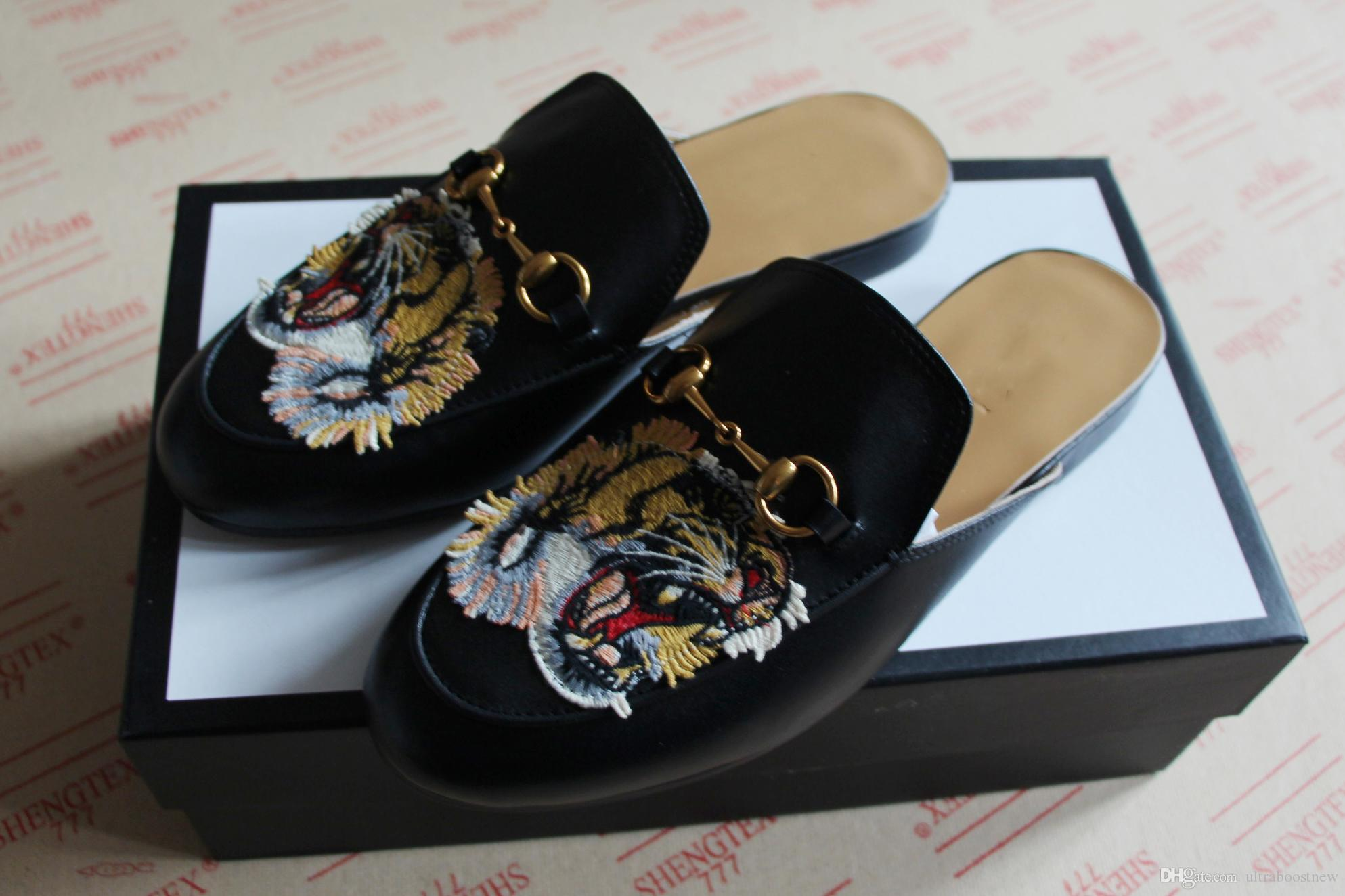 0ae7dfe121c NEW Fashion Princetown Horsebit Slipper with Embroidery Tiger Rose ...