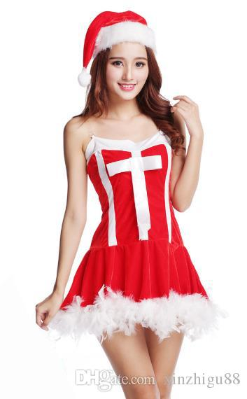 2018 christmas costumes big girls adult bunny girls sexy cos ball red santa claus costumes ds performance costumes from xinzhigu88 5227 dhgatecom