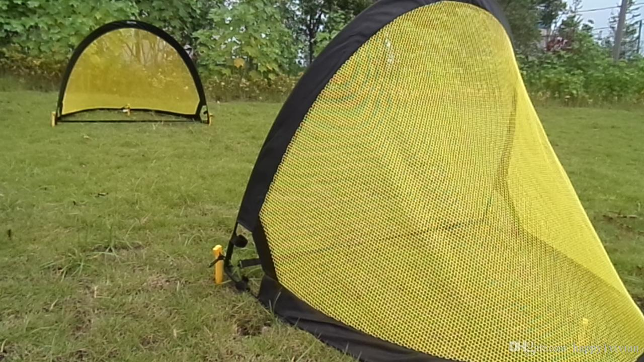 13398e5b2 Pop Up Soccer Goal Net Folding Black Yellow Training Goal Net Tent Kids  Indoor Outdoor Play Toy Football Goal Toys Soccer Toys For Toddlers From ...