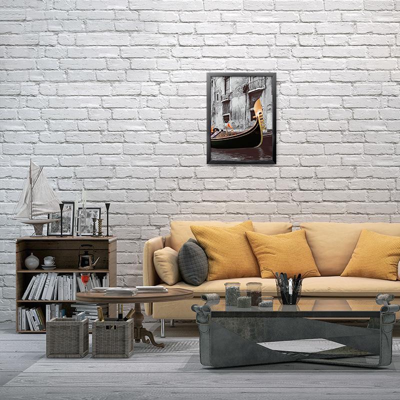 Acheter 3d Stereoscopique Blanc Brique Motif Papier Peint Moderne