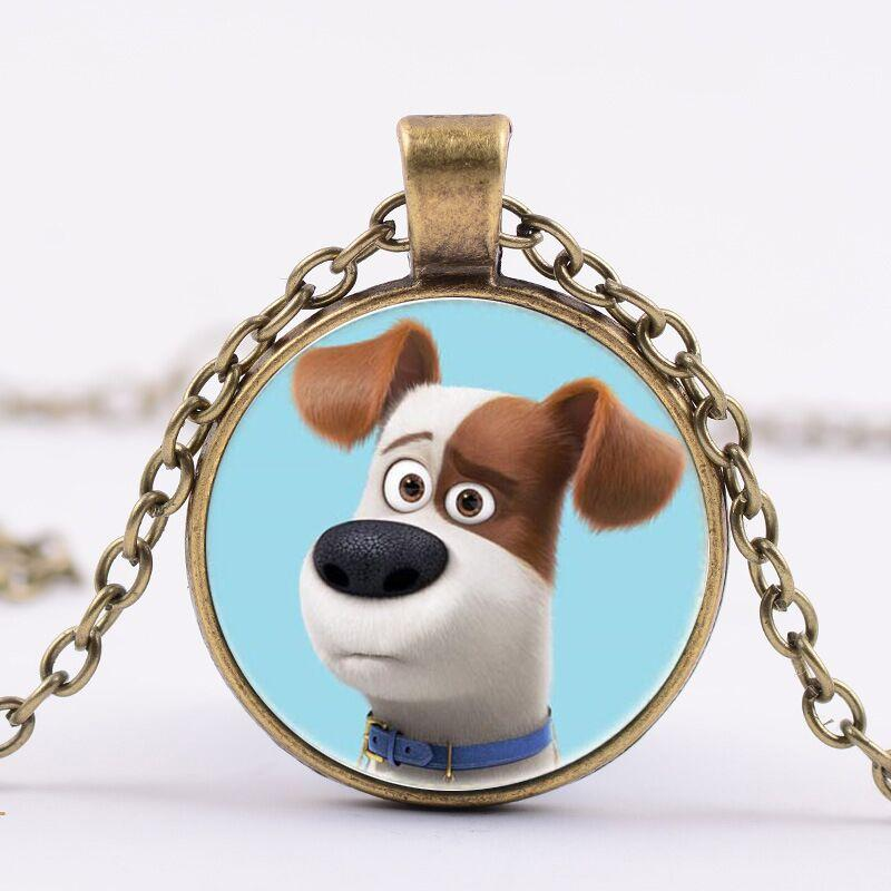 round children Time Gem Cabochon The Secret Life of Pets Necklace pup puppy dog Necklace The Secret Life of Pets Pendant Necklace 569