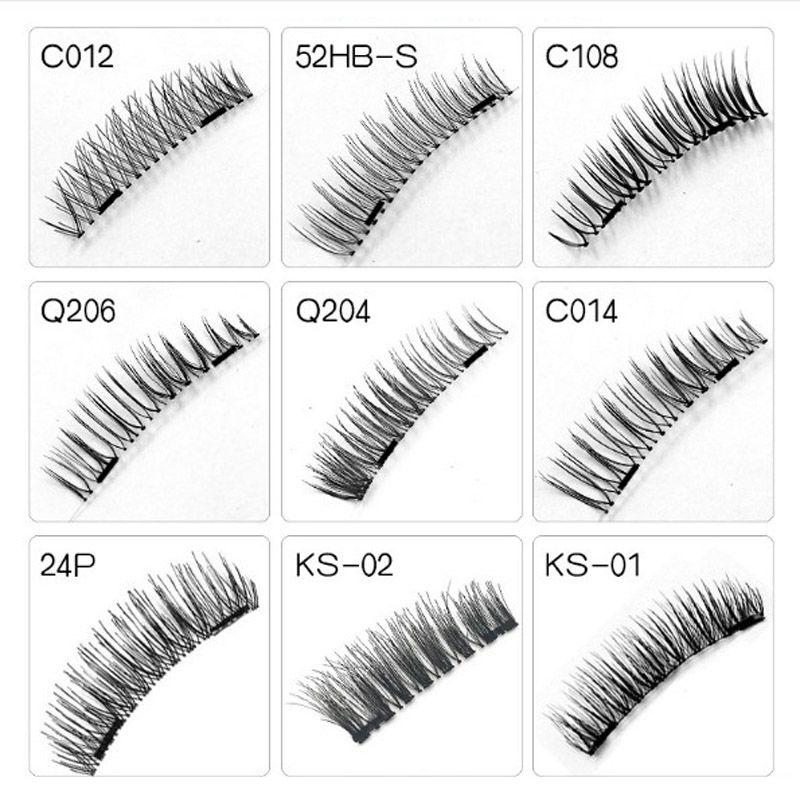 Magnetic Eyelashes 100 Boxes 2-3 Magnet False Eyelash Extension 3D Cosmetics Long Faux Cilos Black Brown Eye Lashes Tool Kit