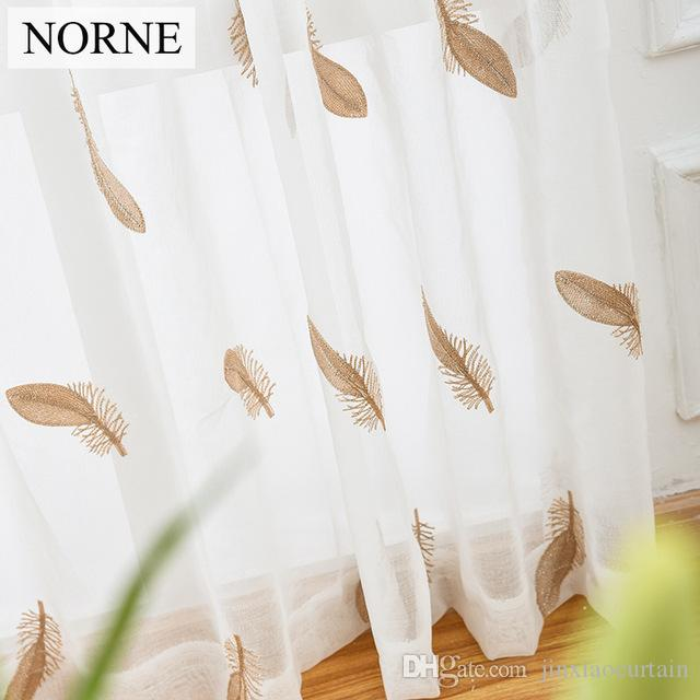 Attirant Norne Embroidered Semi White Voiles Peacock Feathers Tulle Sheer Curtains  For Living Room,Kitchen Drape Treatment For Bedroom Boys Curtains Girls  Curtains ...