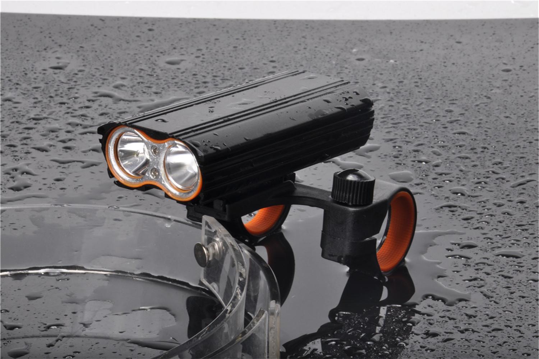 USB recargable bicicleta luz 2000LM MTB seguridad linterna LED bicicleta manillar luces delanteras +2 Mount Holder ciclo accesorios