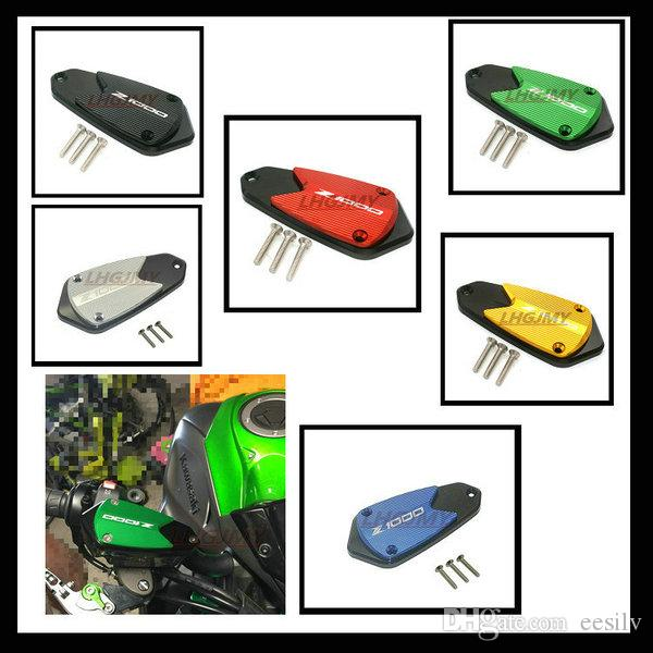 2017 New For Kawasaki Z1000 2010-2017 2011 2012 2013 2014 2015 2016 Motorcycle CNC Front brake Fluid Reservoir Cap Cover