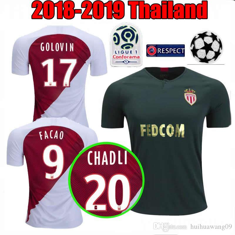 554791ba2 2019 18 19 Golovin AS Monaco Soccer Jerseys Home Away 2019 Champions League  FALCAO GLIK CHADLI CARRILIO JEMERSON Maillot De Foot Football Shirts From  ...