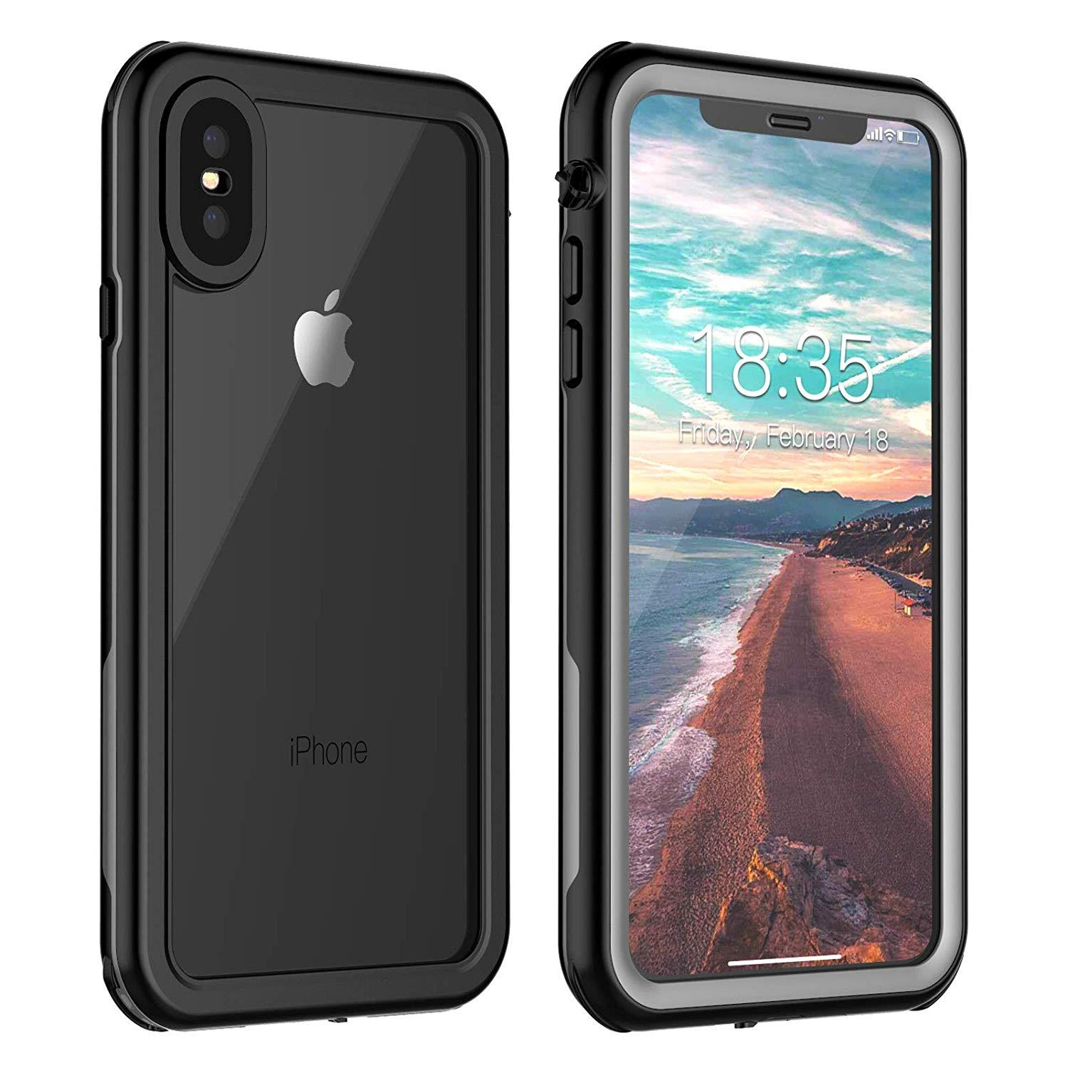 separation shoes f702f deded For iPhone Xs Max Waterproof Case,Full Body Rugged Armor Cover Case  Built-in Screen Protector,Dustproof Shockproof Case iPhone Xs Max 6.5