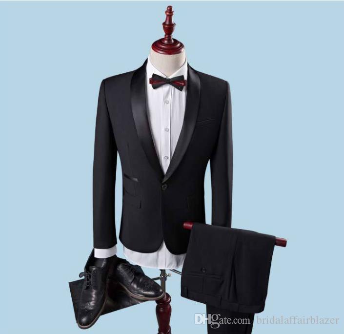 finest selection 21f15 168b8 2018 Wedding Sposo Vestito Con Pantaloni Smoking Per Gli Uomini Wedding  Blazers Abiti Prom Migliore Vestito Dell uomo Jacket Pants Bow