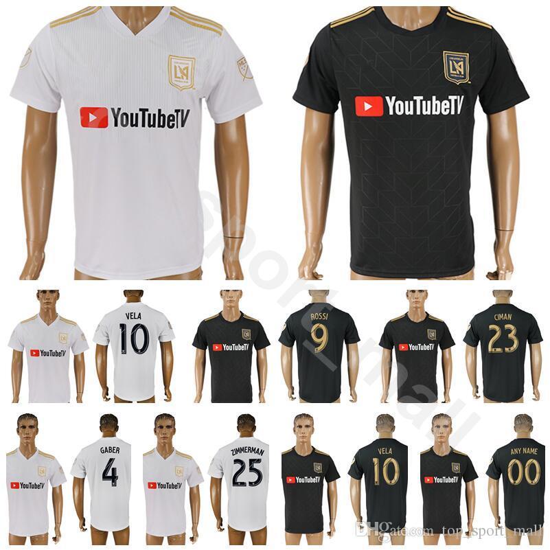 8a436640a8d756 2019 18 19 Season FC Los Angeles Jersey Football Club Soccer 10 VELA 9  ROSSI 4 GABER 23 CIMAN 99 DIOMANDE Shirt Kits Uniform From Top sport mall