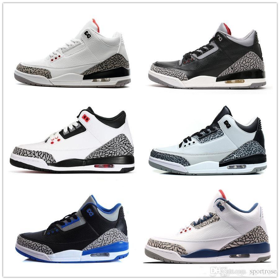timeless design 5ab80 5d740 Großhandel Hohe Qualität 3 Herren Basketball Schuhe 3 S Schwarz Weiß 2018  Zement Gs Infrarot Wolf Grau Männer Turnschuhe Schuhe 8 13 Nike Air Jordan  Retro ...