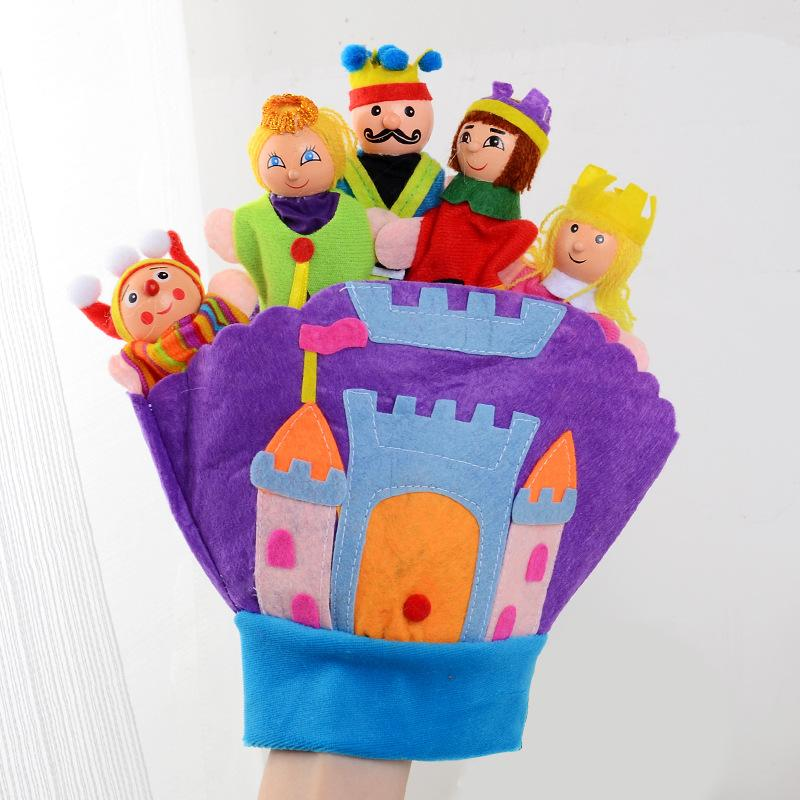 Hand Glove Baby Plush Toys Fairy Kingdom Educational Puppets Finger Puppet Kids Learning Education Toys For Children
