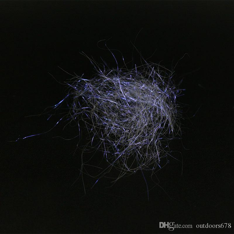 Fishing Tackle Ice Dub Fiber fly tying material Dubholographic living synthetic fibers with unique violet purple light for lure making