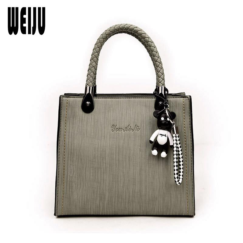 438acb8be2 WEIJU Brand PU Leather Solid Handbags Women Messenger Bag Casual ...