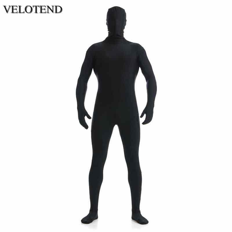 ec9402c85 Compre VELOTEND Mens Lycra Full Body Zentai Traje Personalizado Segunda  Piel Tight Trajes Spandex Nylon Body Disfraz De Halloween Para Hombres A   27.35 Del ...