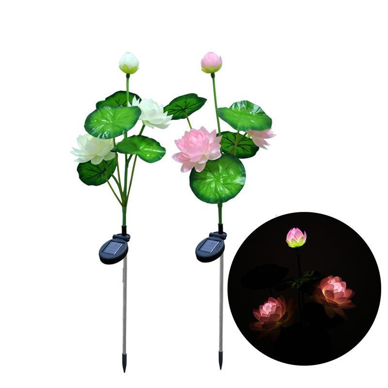 2018 Solar Powered Lotus Flower Lights, For Garden Chrismas  Patio,Wedding,Party ,Bedroom Outdoor Garden Home Decoration Lights From  Pangyouyulei, ...