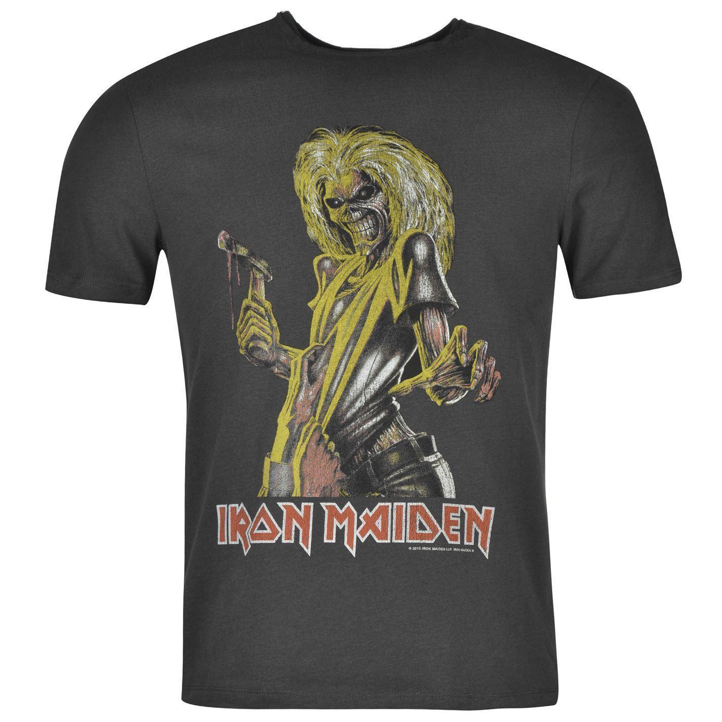 Wear Top Tee Shirt Killer Casual Maiden Homme Noir Iron Acheter T xsrthCBdQ