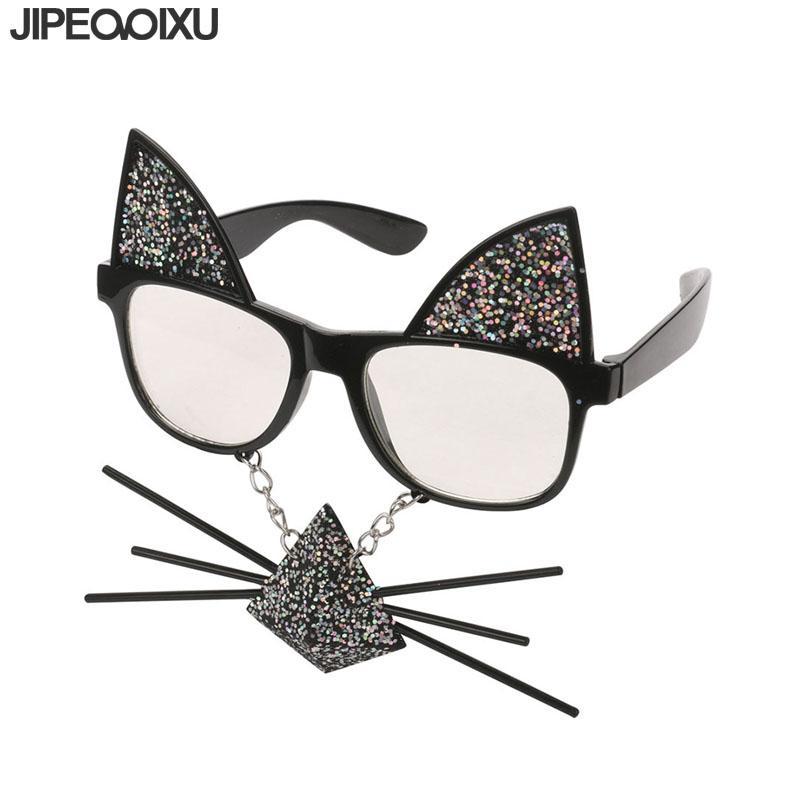 44237d7767 Compre Moda Gafas De Sol Cuadradas De Las Mujeres Nueva Lentejuelas Oreja  De Gato Gafas De Sol De La Personalidad De Los Gatos De Dibujos Animados  Bigote ...