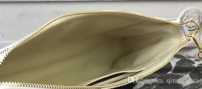 Мода Pochette цепи сумка бренда настоящая кожаный холст плеча кроджобищные сумки M40712 Дарие Урожай Маджонг EVA