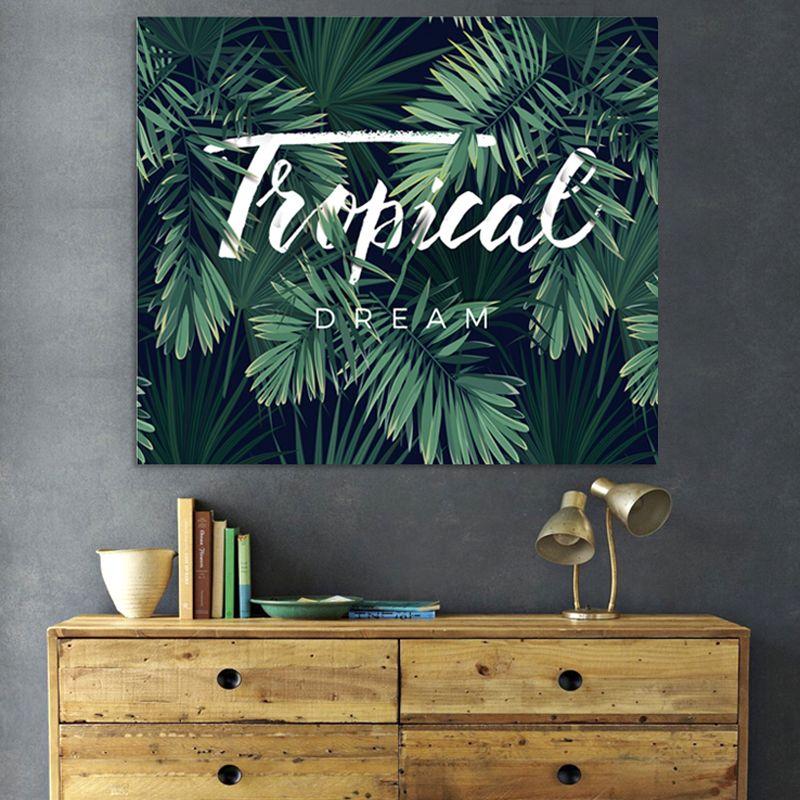 Banana Leaf Printing Tapisserie Wohnkultur Wandbehang Strandtuch Im Freien Tragbare Yoga-Matte 25ml3 C R