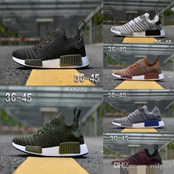 356a30509f684 2019 2018 NMD Runner R1 STLT Chukka Primeknit Design For Men Women Running  Shoes Sport Fashion Mesh Breathable Sneaker From Rodgers