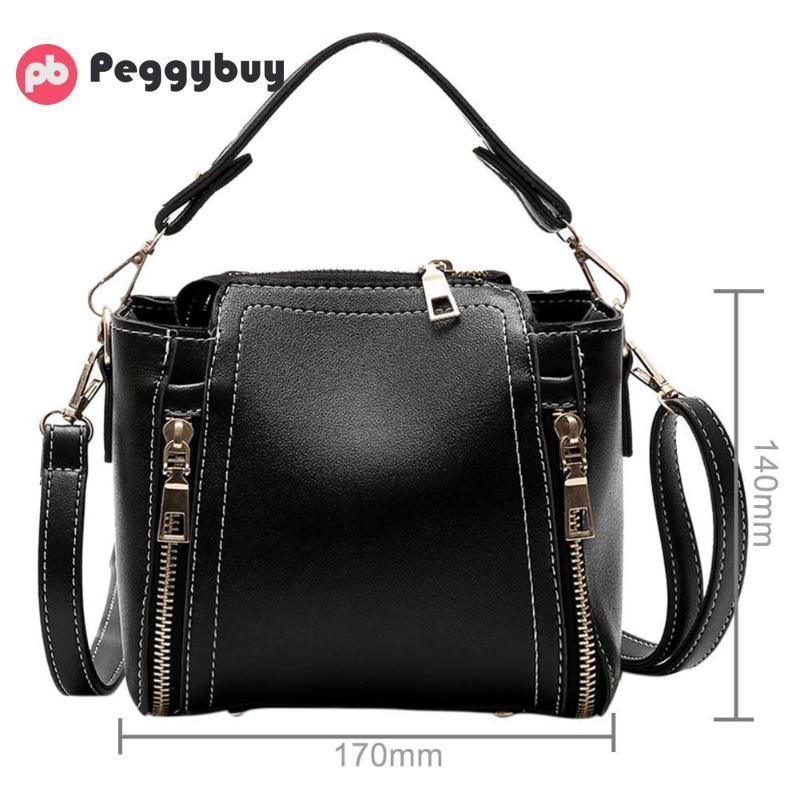 Brand Designer Women Crossbody Tote Vintage Fashion PU Leather Shoulder  Bucket Handbags 2018 New High Quality Big Messenger Bags Purses On Sale Men  Bags ... 5d4804e719b33