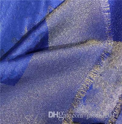 새로운 스카프 여성을위한 럭셔리 편지 패턴 실크 모직 캐시미어 골드 스레드 디자이너 두꺼운 스카프 따뜻한 스카프 크기 140X140CM 최고 품질