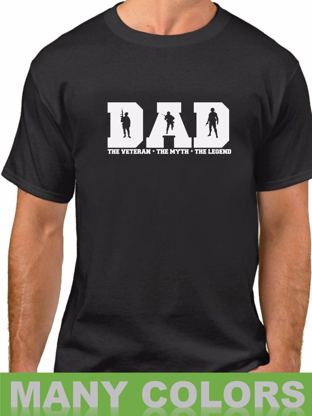 98c86d96d DAD The Veteran Myth Legend Shirt Champs USA Soldier Veterans Day Fathers  Day Cool Tee Designs Tees Shirts Cheap From Identatee, $11.01  DHgate.Com