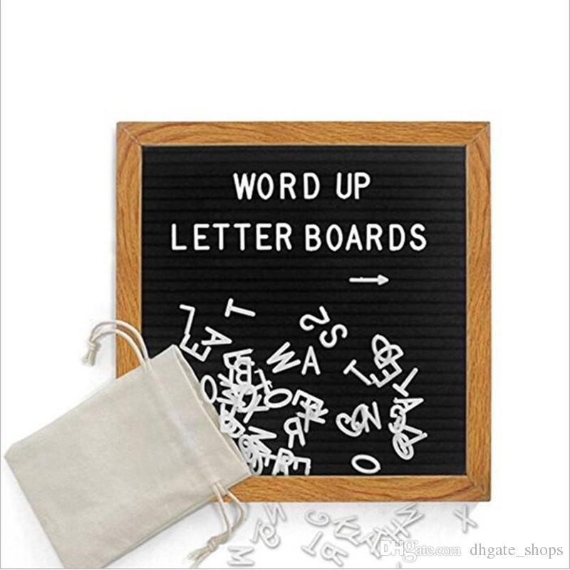 black felt letter board changeable white letters craft knife cloth bag diy oak wood frame message puzzle boards for office business felt letter board