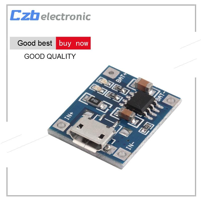 Tp4056 Micro Usb 5v 1a 18650 Lithium Battery Charging Board Charger