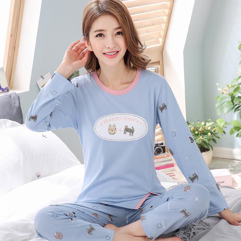 e322a594b6a MISHI 2018 Pajamas Set Autumn Ladies Cute Sleepwear Woman s Long Sleeved  Winter Pajamas For Women Sleepwear pijamas women
