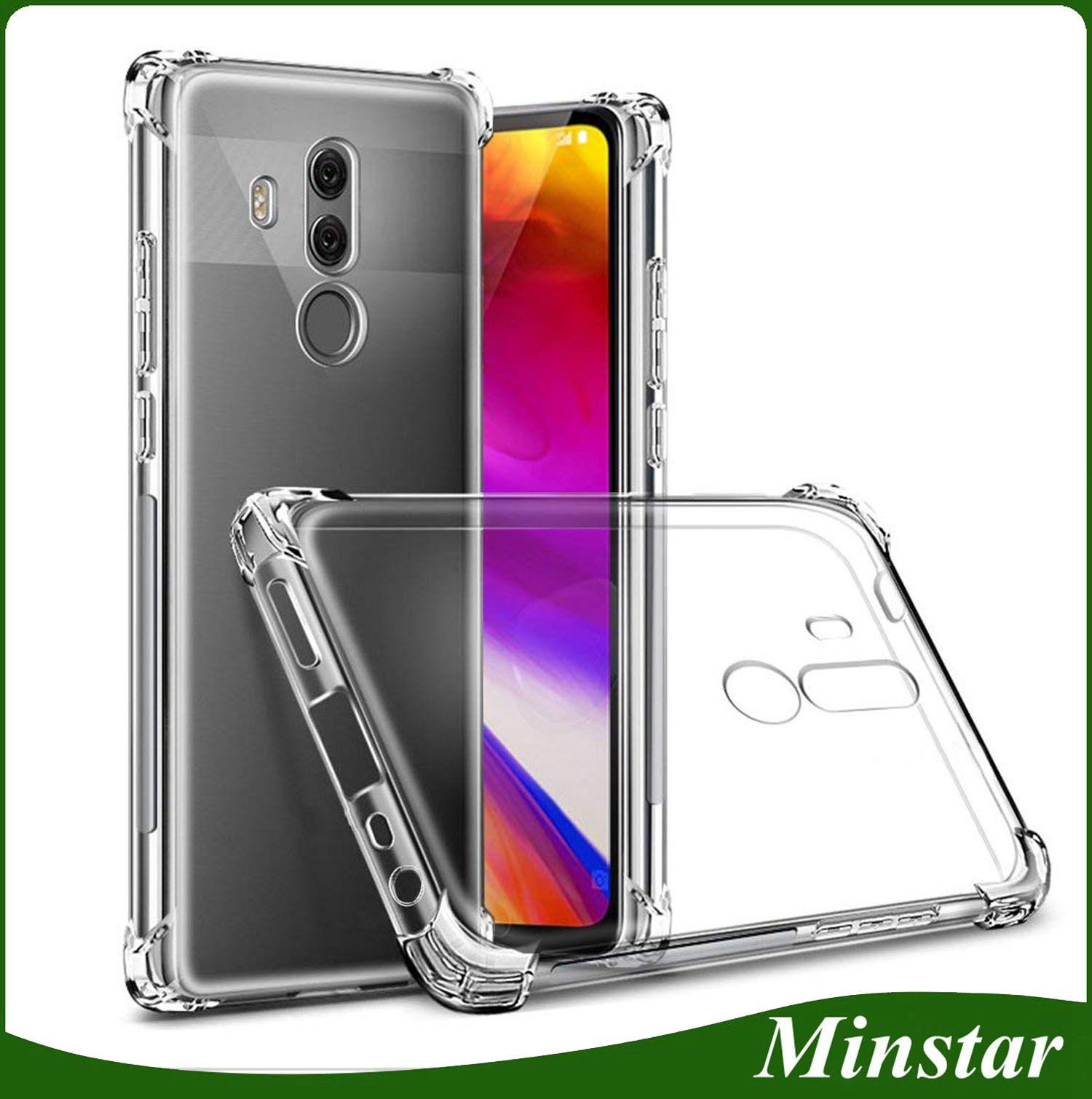 Clear TPU Bumper Cases Soft Gel Phone Case Cover For LG Q7 Q7 G6 G7 V35  ThinQ LV5 K20 Plus K30 2018 V40