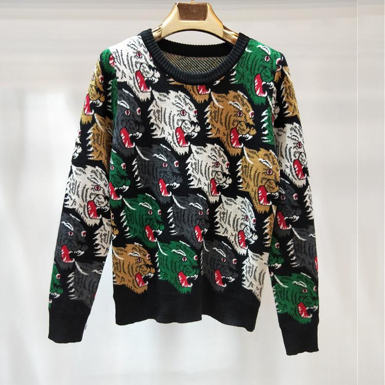 16c132254b88 2019 Woman Tops 2018 Winter Round Micro Waist Sweater Jacquard Weave ...