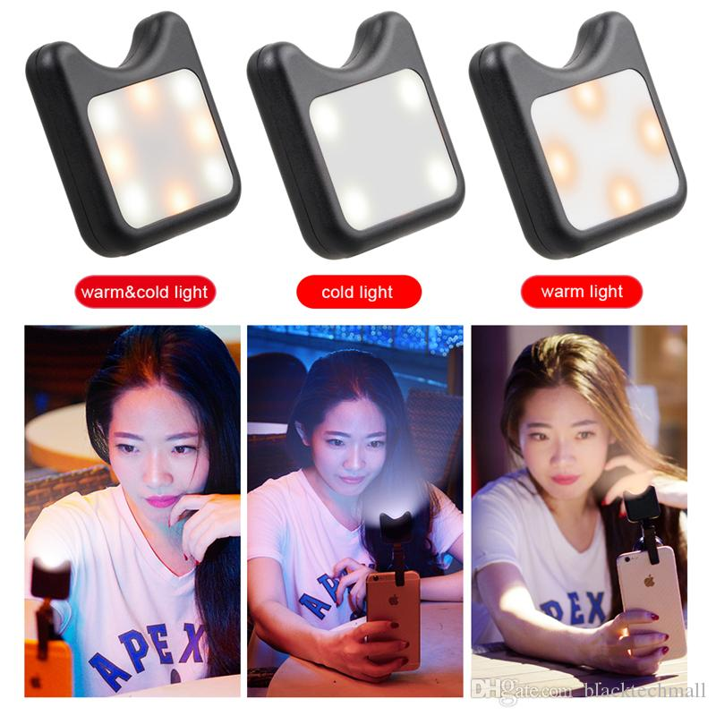 3 in 1 phone camera lens wide macro lens with Led Fill light for iPhone Lens for android ios smartphone
